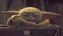 Baby Yoda using jedi powers to change young liberal minds