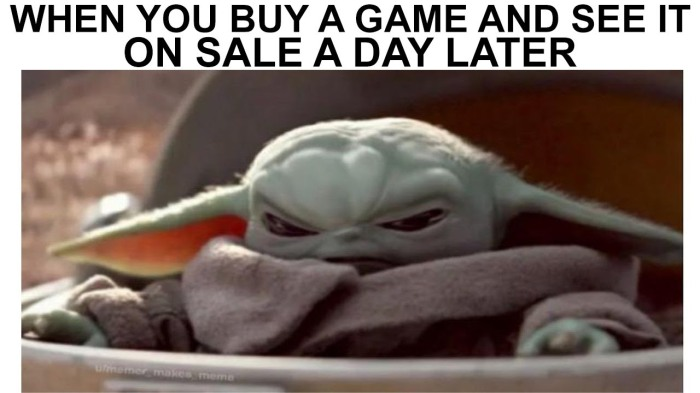 An extremely funny online meme featuring a young Yoda